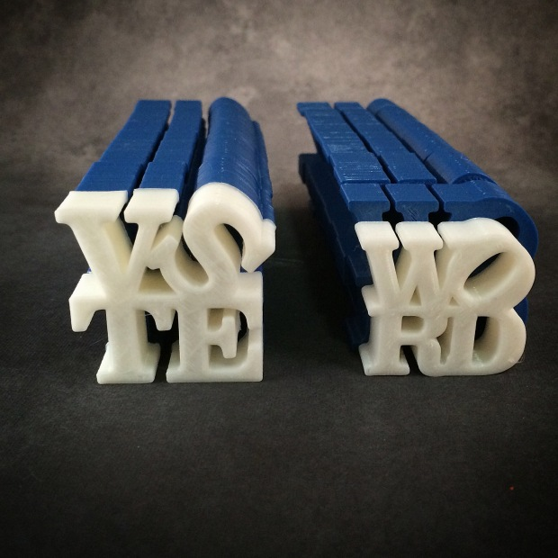 Isaac Budmen: @ibudmen Artist, Designer and Inventor WORD Sculpture http://www.thingiverse.com/thing:305087 Customizable design inspired by Robert Indiana's renowned 'LOVE' sculpture. http://teambudmen.com/