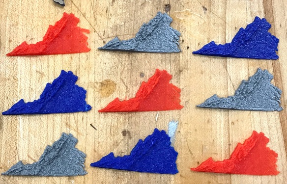 3D Model: Virginia Topographic Map | Design Make Teach
