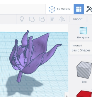 TinkerCAD AR Viewer Button