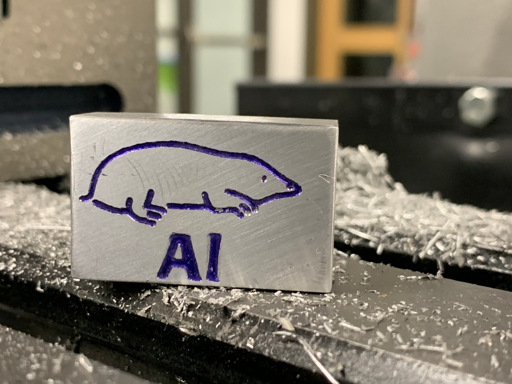 lasercut mole of aluminum